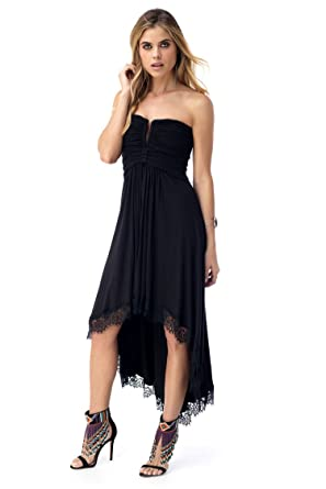 Sky Womens Lennox High Low Dress Black At Amazon Womens Clothing