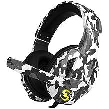 Docooler 3.5mm Over-ear Fones de ouvido com fio para jogos Fones de ouvido com cancelamento de ruído com microfone Microfone Mic Mute Volune Control para smartphones PS4 Laptop Tablet PC