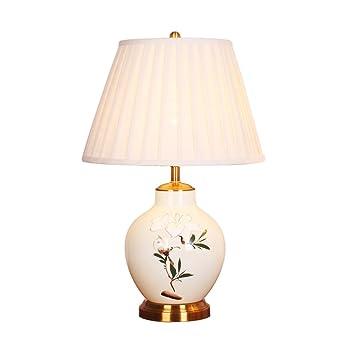 Tiamo Home Store Tischlampe Keramik Nachttischlampe Kupfer Moderne