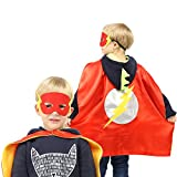 Justice League 4 Different Superhero Cape and Mask Costumes Come with 295+ Stickers Take Party Pack Gifts for Kids (Boys)