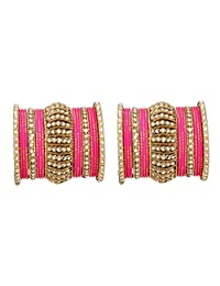 Ratna Indian Bollywood Antique Gold Plated Women Traditional Bridal Wedding Wear Arrangment Bangles Set Jewelry