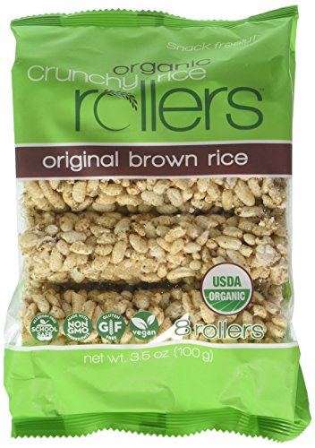- Bamboo Lane Crunchy Rice Rollers - Organic Brown Rice, 3.5oz (4 Packs of 8 Rollers)