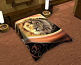 Premium 100% Polyester Bed Blankets (Choose Size & Design) (71'' W x 87'' H Full Size, Dark Lion)