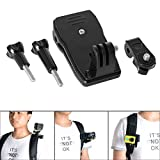 Action Camera Clip Mount Backpack Hat Clip Clamp Mount 360 Degree Rotary Clip Rec-Mount Compatible with Sony FDR X-3000V X1000VR HDR AS 300 AS-10 15 20 30 50 100 200 AZ-1 Clip Clamp Mount