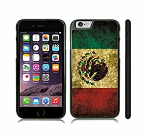 iStar Cases? iPhone 6 Case with Mexico Flag Vintage Grunge Look Design , Snap-on Cover, Hard Carrying Case (Black)