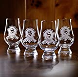 Glencairn Scotch Whisky Glass Engraved, Set of 4 (m30glen)