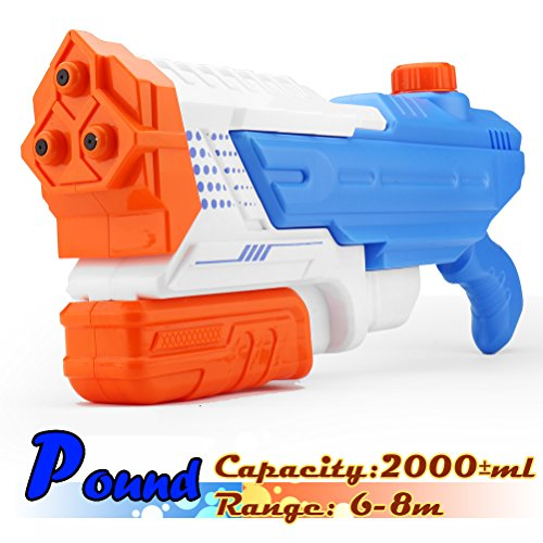 Big Water Gun, Adults and Kids Toys, Three Nozzles Speed Soak, Huge Water Blaster, Massive Water Pistol, Large Capacity Squirt Gun