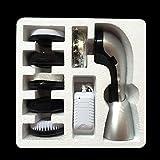Fashionwu Portable Electric Shoe Brush Handheld Mini Shoe Polisher Silver