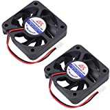 50mm case fan - Icstation 50mm X 50mm X 10mm 5010 2 Pin DC 12V 0.1A Silent Brushless Cooling Fan for 3D Printer Computer Sleeve Bearing 7 Blades (Pack of 2)