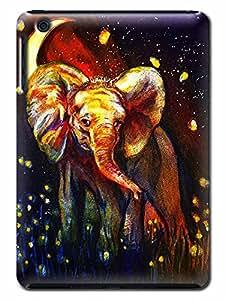 3D DIY Vivid Elephant Background Heavy Duty Hard Shock Proof Case Cover Compatible With IPad Mini(Romantic Elephant)