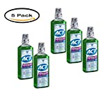 PACK OF 5 - Act Advanced Care Plaque Guard Antigingivitis/Antiplaque Mouthwash, 18 fl oz