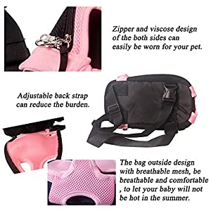 Yingjie Dog Carrier Pink Legs Out Front Pet Carrier Backpack Comfortable Puppy Bag with Shoulder Strap and Sling for Travel Hiking Camping Outdoor