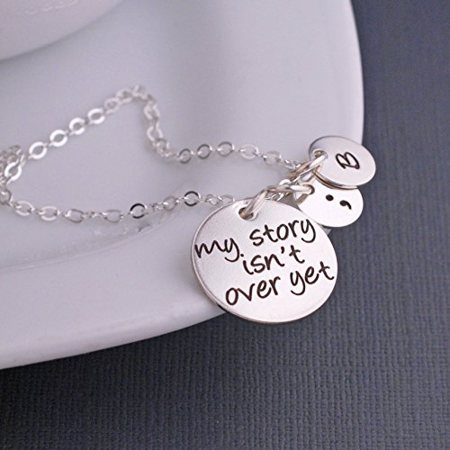 Silver My Story Isn't Over Yet Semicolon Necklace]()