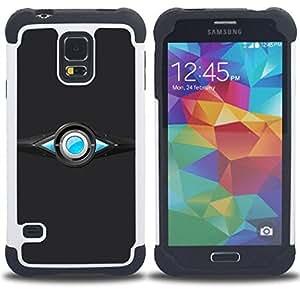 For Samsung Galaxy S5 I9600 G9009 G9008V - Abstract Design Dual Layer caso de Shell HUELGA Impacto pata de cabra con im??genes gr??ficas Steam - Funny Shop -