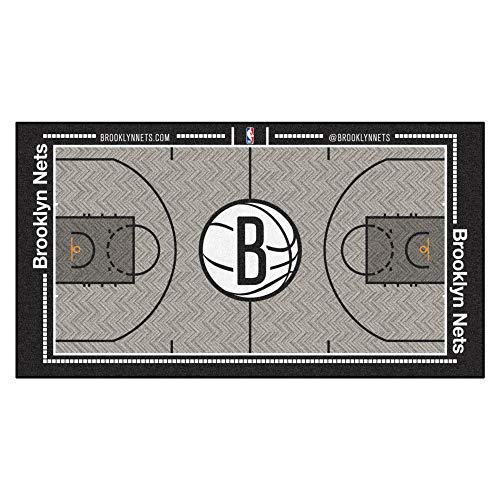 FANMATS NBA Brooklyn Nets Nylon Face NBA Court