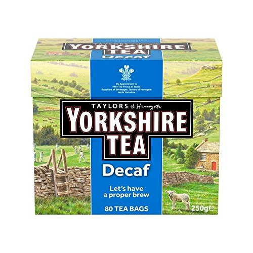 Yorkshire Tea Cakes - Yorkshire Decaf Teabags 80 per pack - Pack of 2