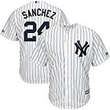 Majestic Gary Sanchez York Yankees MLB Youth White Home Cool Base Replica Jersey (Size Medium 10-12)