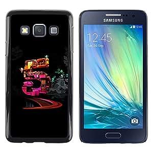 """For Samsung Galaxy A3 , S-type Cinco"""" - Arte & diseño plástico duro Fundas Cover Cubre Hard Case Cover"""