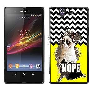 Dragon Case - FOR Sony Xperia Z L36H - To love and be loved - Caja protectora de pl??stico duro de la cubierta Dise?¡Ào Slim Fit