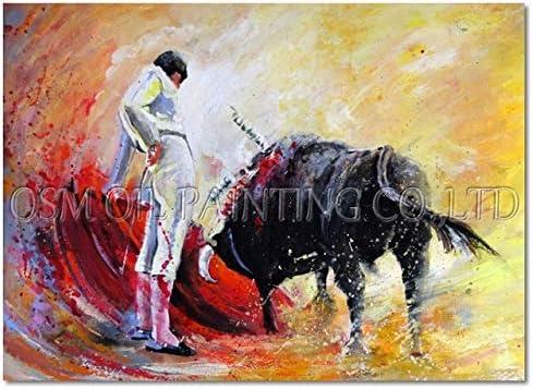 QYYDYH Artista Experto Impresión Artesanal España Juego Especial Corrida de toros Pintura al óleo para Sala de Estar Corrida de toros Pintura de Arte 50x70CM Corrida de toros A: Amazon.es: Hogar