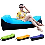 HAKE Inflatable Lounger Air Sofa Chair, Blue, One Size