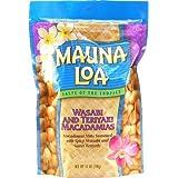 Mauna Loa Wasabi & Teriyaki Macadamia Nuts 1 Bag 11oz Each and 1 Bar of Plumeria Face & Body soap and 1 Tube of White Ginger Conditioning Shampoo by Mauna Loa