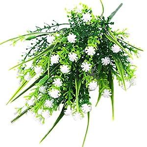 Fityle 4pcs Plastic Artificial Baby'S Breath Flower Arrangement Grass Gypsophila Flower Wedding Floral Decor 6