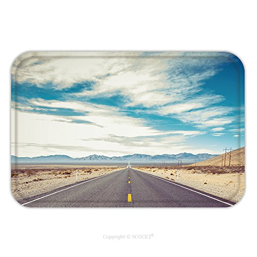 Flannel Microfiber Non-slip Rubber Backing Soft Absorbent Doormat Mat Rug Carpet Open Road And Possibilities Road In Death Valley National Park Artistic Instagram Style 261760922 for - Instagram Roco