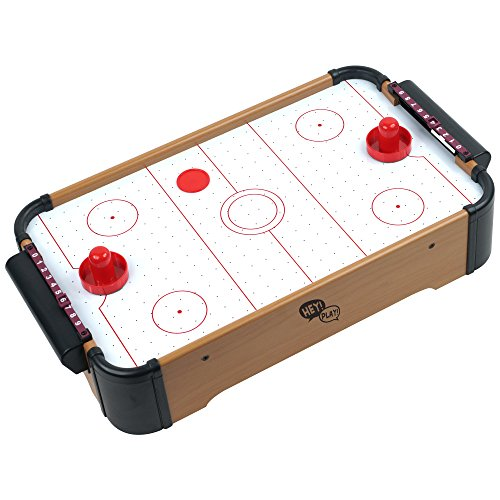 - Hey! Play! Mini Table Top Air Hockey Game