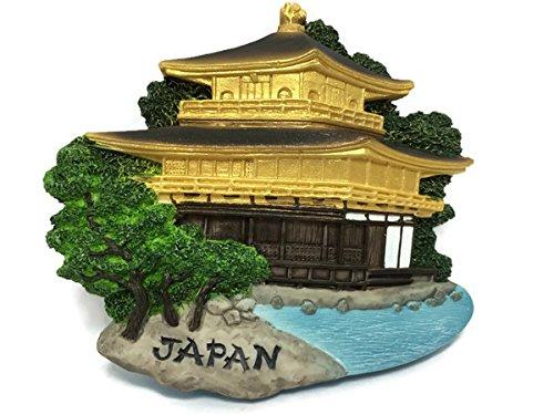 (Kinkaku-ji Temple (The Golden Pavilion) - Kyoto Japan, High Quality Resin 3d Fridge Magnet)