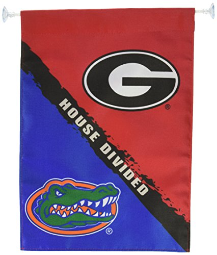 Ncaa Rivalry House (NCAA Georgia-Florida 2-Sided Garden Flag-Rivalry House Divided)