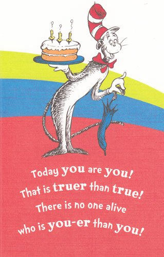 Amazoncom Greeting Cards Birthday Dr Seuss Today You Are You