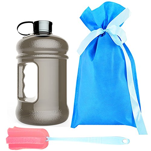 High Capacity Wave Enviro Eastar Resin Sports Water Bottle BPA Free Reusable Portable Large Outdoor Fitness Training Jug Container(74oz)
