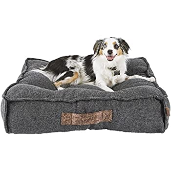 Harmony Grey Lounger Memory Foam Dog Bed, 28