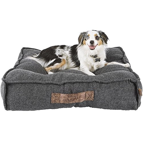 - Harmony Grey Lounger Memory Foam Dog Bed, 28