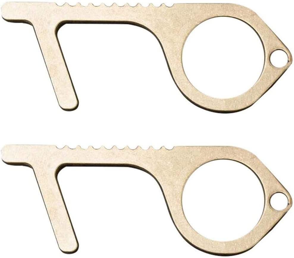 Ber/ührungslos Tragbare Presse Elevator Tool Personalisierter Schl/üsselbund H/ände Sauber Halten Bouncevi Hygiene Hand Messing EDC T/ür/öffner Stift