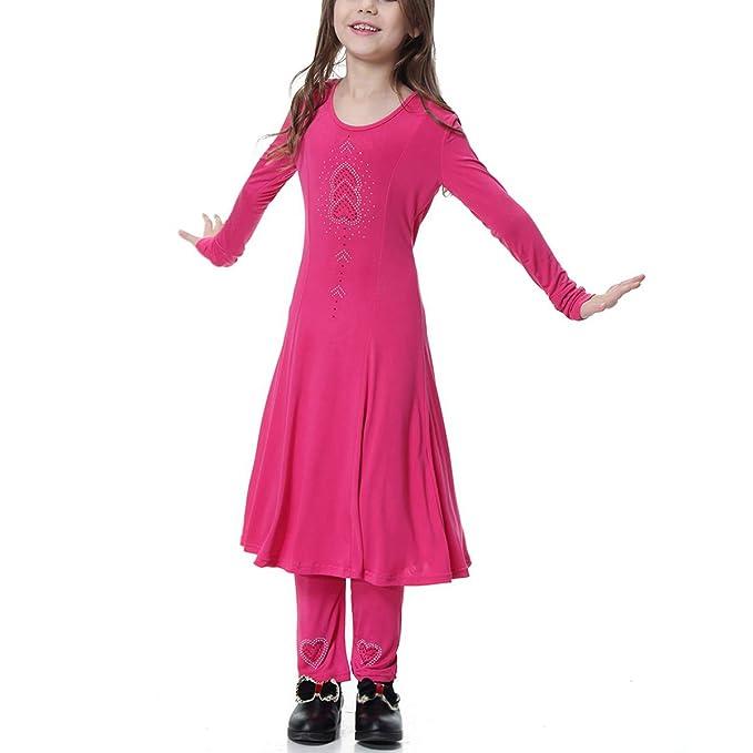 BESTOYARD 2pcs Establece Trajes de Vestir de niñas Musulmanas niños ...