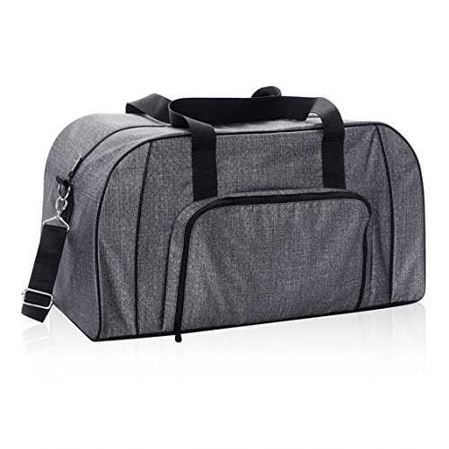 New Thirty One All Packed Duffle in Charcoal crosshatch,new in package!