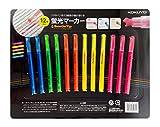 KOKUYO Highlighter Beetle Tip 3 Way Marker 5 Corer 12 PCS ( 3/Pink, 3/Yellow, 2/Orange, 2/Green, 2/Blue)