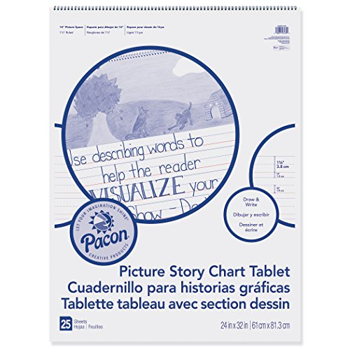 Pacon PACMMK07430 Chart Tablet, Picture Story, 24'' x 32'', White, 25 Sheets by Pacon