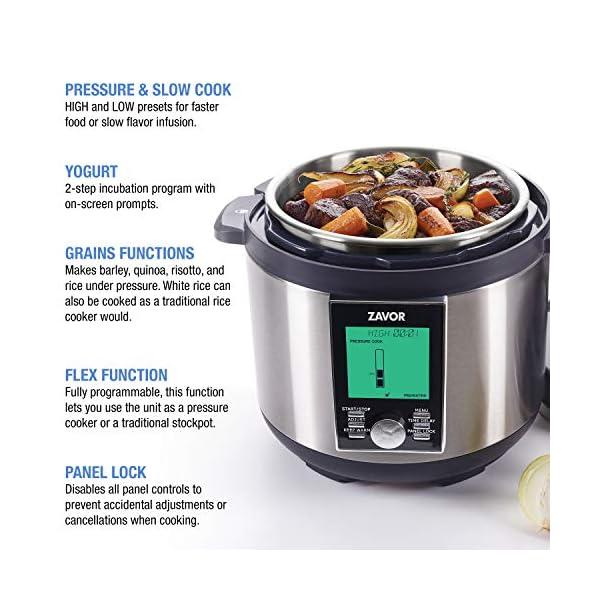 Zavor LUX LCD 6 Quart Programmable Electric Multi-Cooker: Pressure Cooker, Slow Cooker, Rice Cooker, Yogurt Maker… 3