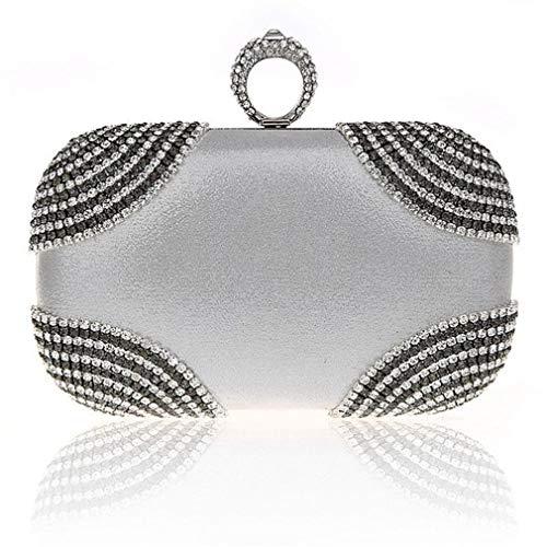 Clutch Diamonds Ym1012black Purse Party Wedding Handbags Bags Rhinestones Women Evening Shoulder Chain Evening Purse aqWBzaRw