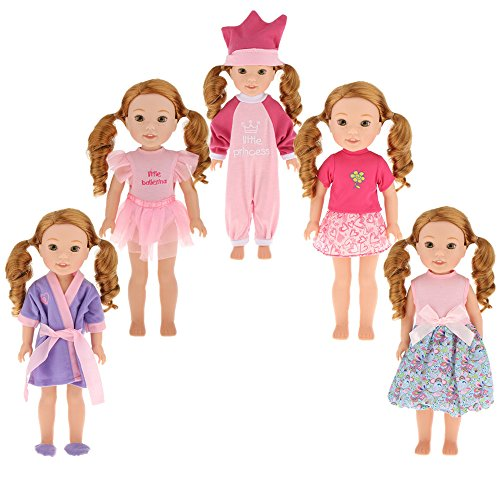 dreamflyingtech 5PCS Doll Clothes Fits for 14