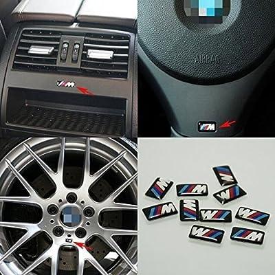 JD PARTS LLC 10pcs Self-Adhesive M Tec Sport Badge Sticker Emblem fits BMW M3 M5 M6 Wheel New: Automotive