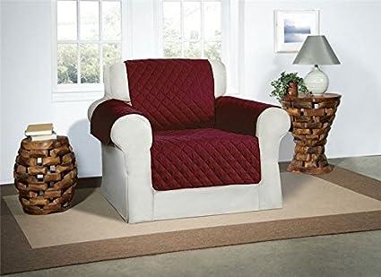 Safari Homeware Cubre Borgoña/Vino para Sillones - Protector de Muebles Acolchado de Lujo