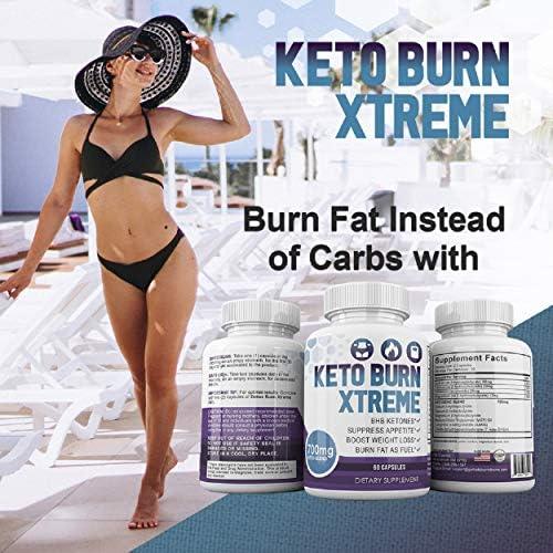 Keto Burn Xtreme - BHB Ketones - Suppress Appetite - Boost Weight Loss - Burn Fat As Fuel - 700mg Keto Blend - 30 Day Supply 6