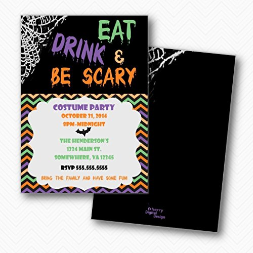 (Eat Drink and Be Spooky Halloween Party Invitations | Envelopes)