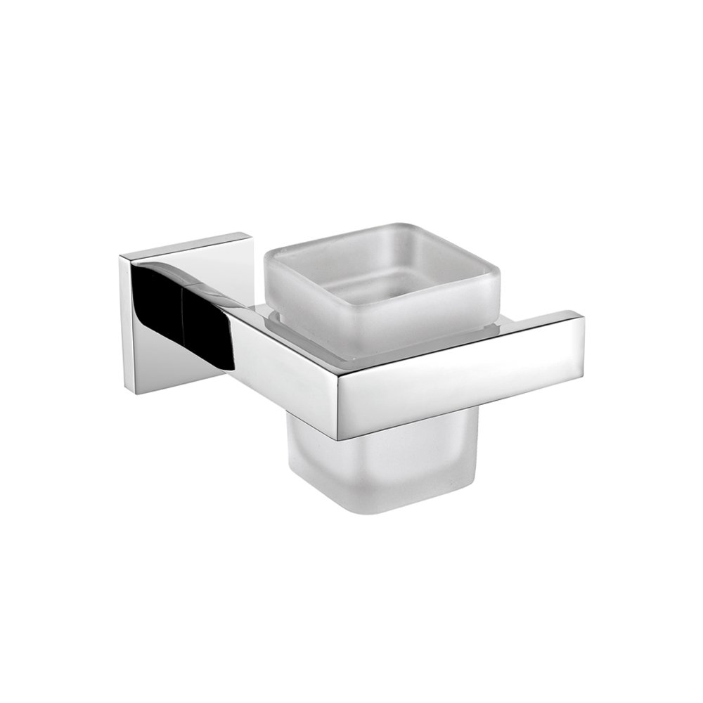 Leyden Wall Mounted Modern Tumbler Holder Chrome Finish Stainless Steel Material Toothbrush Holder