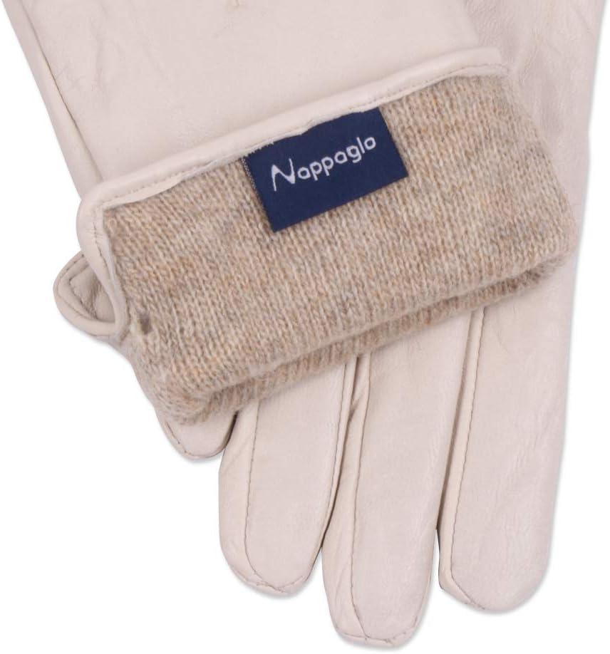 Women Leather Gloves Nappaglo Warm Lining Winter Leather Lambskin Gloves