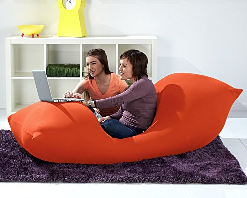 Yogibo Max Giant Bean Bag, 6-Feet, Orange